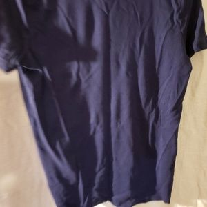 Blue pull over shirt
